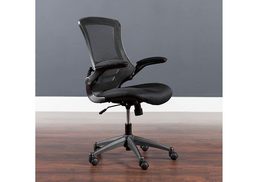 Flash Furniture Mid-Back Black Swivel Chair